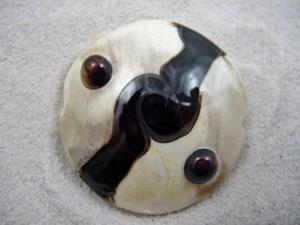 Detail Image for art Ambrosia *DARK ORBS* Handmade Lampwork FOCAL Bead - SOLD