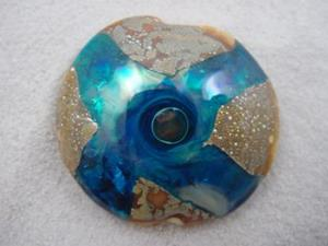 Detail Image for art Ambrosia *CROSSING PATHS* Handmade Lampwork FOCAL Bead - SOLD