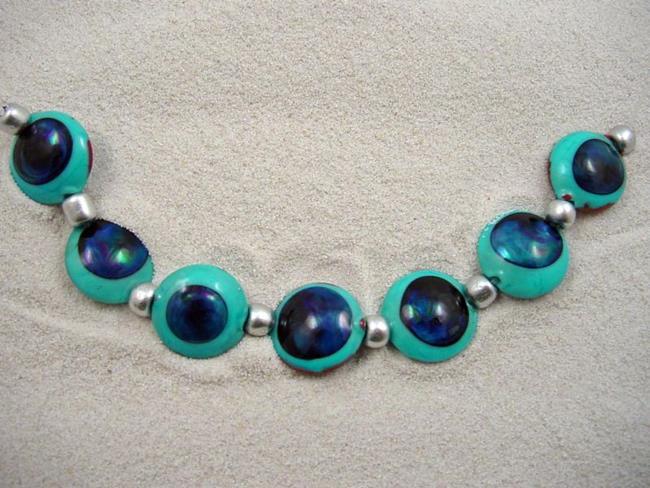 Art: Ambrosia Arts *KRONOS EYES* Lampwork 7 Beads Handmade - SOLD by Artist Bonnie G Morrow