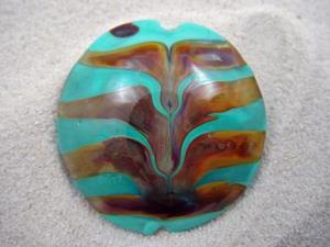 Detail Image for art Ambrosia *TERRA DIPS* Handmade Lampwork FOCAL Bead - SOLD