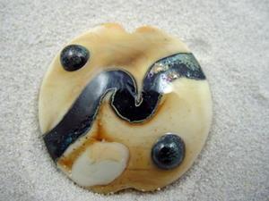 Detail Image for art Ambrosia *ORBS 3* Handmade Lampwork FOCAL Bead - SOLD