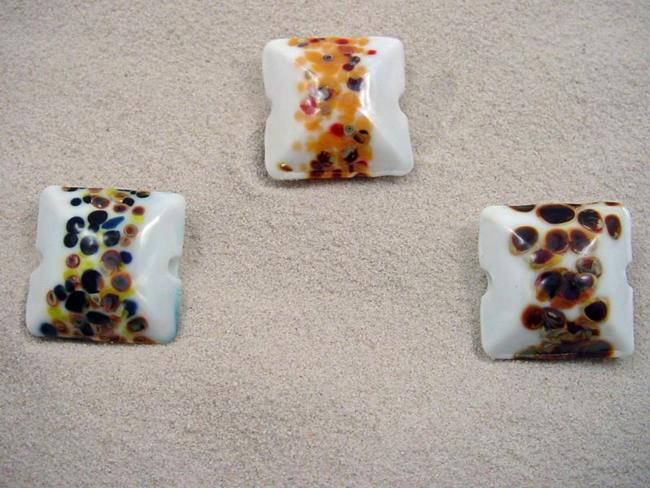 Art: Ambrosia *3 FOCALS D* Lampwork FOCAL Beads Handmade  - SOLD by Artist Bonnie G Morrow