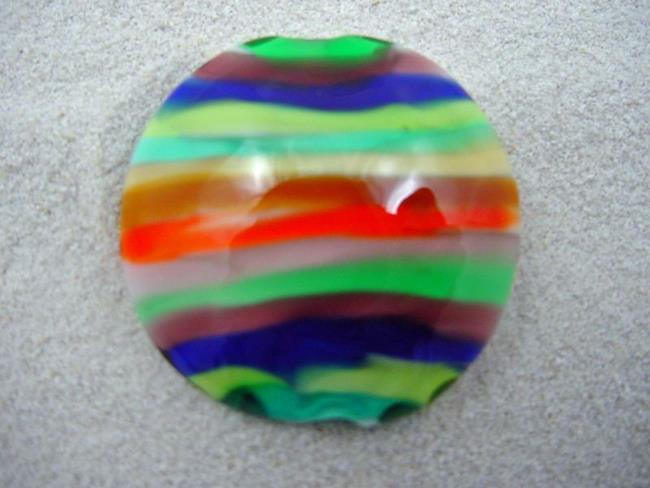 Art: Ambrosia *STACKED 1* Lampwork FOCAL Bead Handmade - SOLD  by Artist Bonnie G Morrow