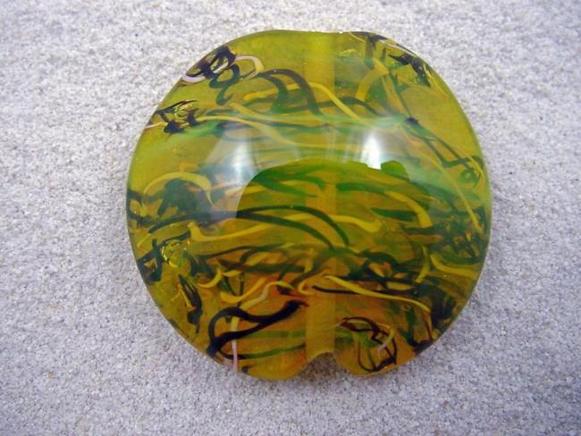Art: Ambrosia *THE LIFE WITHIN 8* Lampwork FOCAL Bead Handmade - SOLD  by Artist Bonnie G Morrow