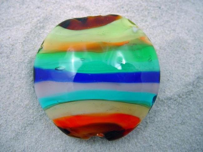 Art: Ambrosia *STACKED 2* Lampwork FOCAL Bead Handmade - SOLD by Artist Bonnie G Morrow