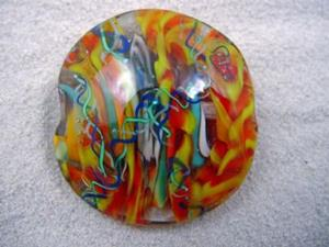 Detail Image for art Ambrosia *THE LIFE WITHIN 9* Lampwork FOCAL Bead Handmade  - SOLD