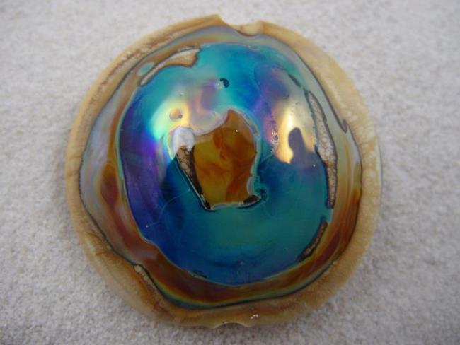 Art: Ambrosia *ELEKTRA EYE* Lampwork FOCAL Bead Handmade  - SOLD by Artist Bonnie G Morrow