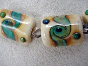 Detail Image for art Ambrosia *TWISTING RIVERS* Lampwork 7 Beads Handmade - SOLD