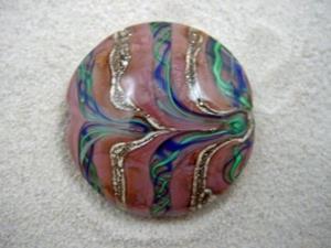 Detail Image for art Ambrosia *AFRICA 33* Lampwork FOCAL Bead Handmade - SOLD