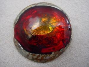 Detail Image for art Ambrosia *RED EYES POOL* Lampwork FOCAL Bead Handmade  - SOLD