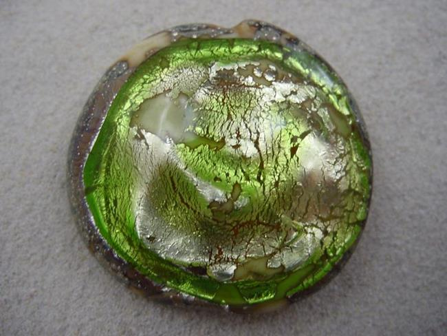 Art: Ambrosia *LIME POOL* Lampwork FOCAL Bead Handmade - SOLD  by Artist Bonnie G Morrow