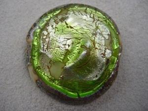 Detail Image for art Ambrosia *LIME POOL* Lampwork FOCAL Bead Handmade - SOLD