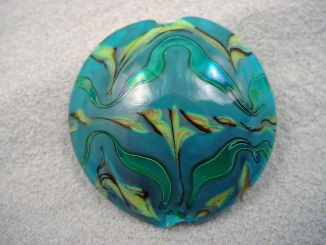 Art: Ambrosia *AFRICA 34* Lampwork FOCAL Bead Handmade  - SOLD by Artist Bonnie G Morrow