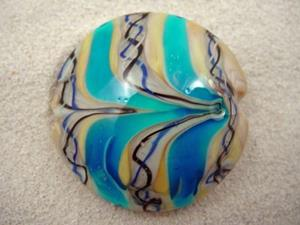 Detail Image for art Ambrosia *AFRICA 35* Lampwork FOCAL Bead Handmade - SOLD
