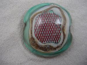 Detail Image for art Ambrosia *MESH 2* Lampwork FOCAL Bead Handmade  - SOLD