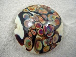 Detail Image for art Ambrosia *RAKU ROADS 5* Lampwork FOCAL Bead Handmade  - SOLD