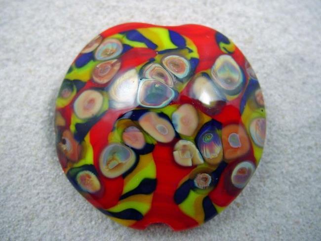 Art: Ambrosia *RAKU ROADS 4* Lampwork FOCAL Bead Handmade - SOLD by Artist Bonnie G Morrow