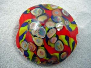 Detail Image for art Ambrosia *RAKU ROADS 4* Lampwork FOCAL Bead Handmade - SOLD