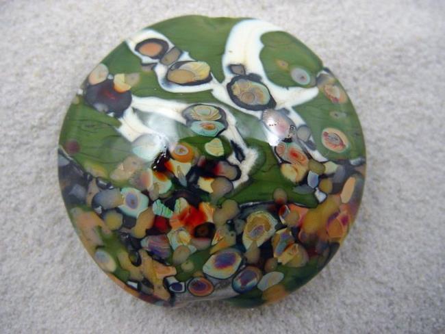 Art: Ambrosia *RAKU ROADS 2* Lampwork FOCAL Bead Handmade  - SOLD by Artist Bonnie G Morrow
