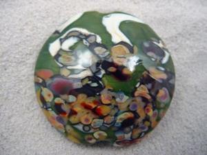 Detail Image for art Ambrosia *RAKU ROADS 2* Lampwork FOCAL Bead Handmade  - SOLD