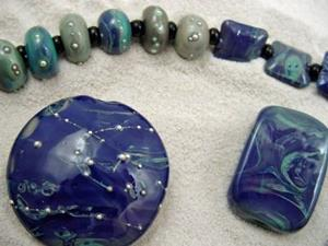 Detail Image for art Ambrosia Glass *NUTS FOR NYX* Handmade Lampwork 61 Beads - SOLD