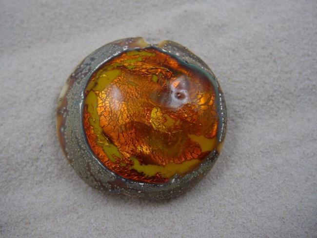 Art: Ambrosia *CITRINE POOL* Lampwork FOCAL Bead Handmade - SOLD by Artist Bonnie G Morrow