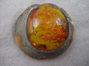 Detail Image for art Ambrosia *CITRINE POOL* Lampwork FOCAL Bead Handmade - SOLD