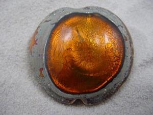 Detail Image for art Ambrosia *GOLDEN POOL* Lampwork FOCAL Bead Handmade  - SOLD