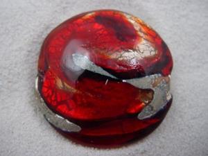 Detail Image for art Ambrosia *RUBY WHIRLPOOL* Lampwork FOCAL Bead Handmade - SOLD