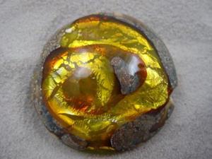 Detail Image for art Ambrosia *CITRINE WHIRLPOOL* Lampwork FOCAL Bead Handmade - SOLD