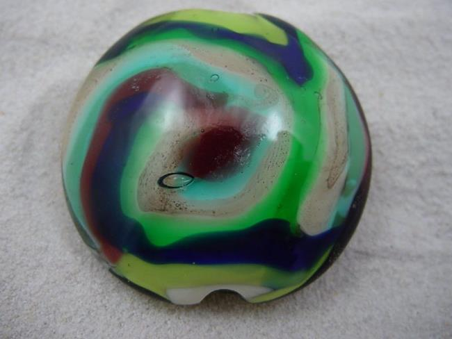 Art: Ambrosia *WHIRLY* Lampwork FOCAL Bead Handmade - SOLD  by Artist Bonnie G Morrow