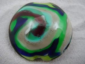 Detail Image for art Ambrosia *WHIRLY* Lampwork FOCAL Bead Handmade - SOLD