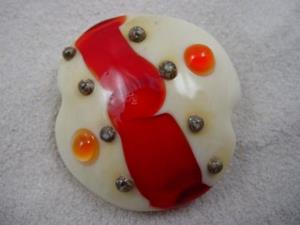 Detail Image for art Ambrosia *ORBS ABOUND* Lampwork FOCAL Bead Handmade - SOLD