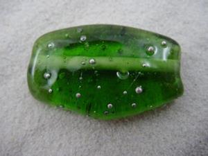 Detail Image for art Ambrosia *SILVER WRAPS 10* Lampwork FOCAL Bead Handmade