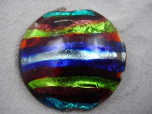 Detail Image for art Ambrosia *ELECTRIC STACK 1* Lampwork FOCAL Bead Handmade