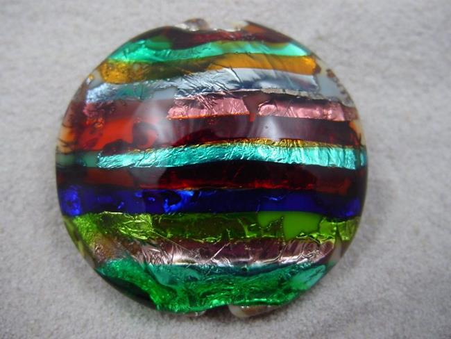 Art: Ambrosia *ELECTRIC STACK 2* Lampwork FOCAL Bead Handmade - SOLD  by Artist Bonnie G Morrow