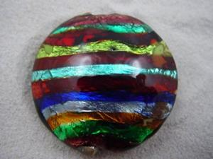 Detail Image for art Ambrosia *ELECTRIC STACK 3* Lampwork FOCAL Bead Handmade - SOLD