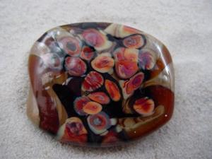 Detail Image for art Ambrosia *RAKU ROADS 7* Lampwork FOCAL Bead Handmade - SOLD
