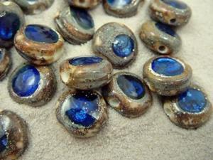 Detail Image for art Ambrosia *SAPPHIRE EYES* Lampwork Beads Handmade