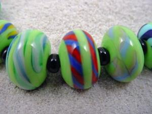 Detail Image for art Ambrosia *TWISTIE WRAPS 5* Lampwork 7 Beads Handmade