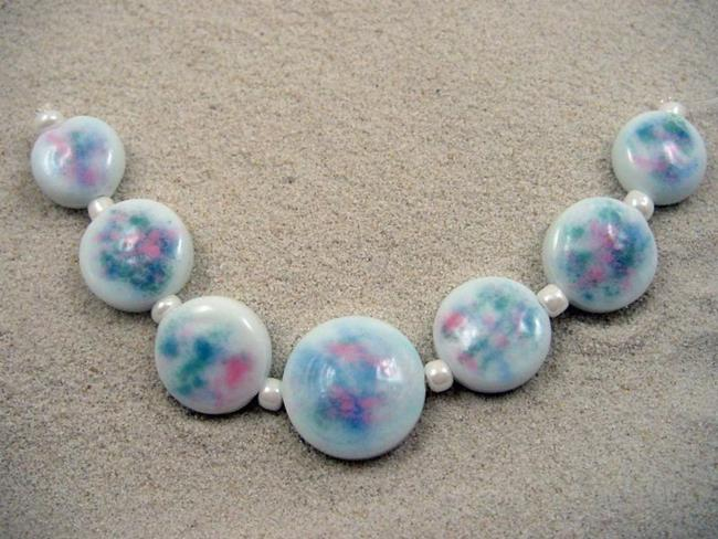 Art: Ambrosia *DUSTED 10* Lampwork 7 Beads Handmade by Artist Bonnie G Morrow