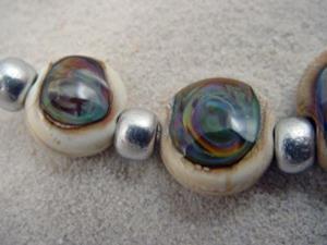 Detail Image for art Ambrosia *TERRA ELEKTRA EYES* Lampwork 7 Beads Handmade - SOLD