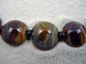 Detail Image for art Ambrosia *STRICTLY TERRA* Lampwork 7 Beads Handmade - SOLD