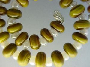 Detail Image for art BG Morrow LAMPWORK Handmade Glass Art 30 Beads D81 SRA