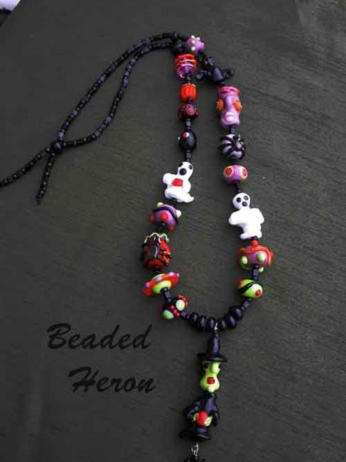 Art: Witches Brew Halloween Necklace by Artist Stephanie M. Daigle