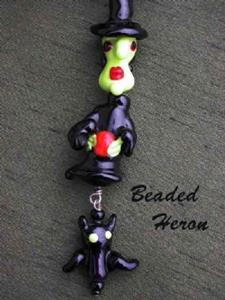 Detail Image for art Witches Brew Halloween Necklace