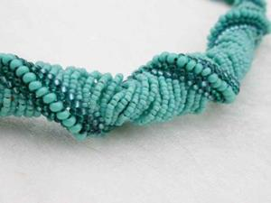 Detail Image for art Turquoise Sea Spirals necklace