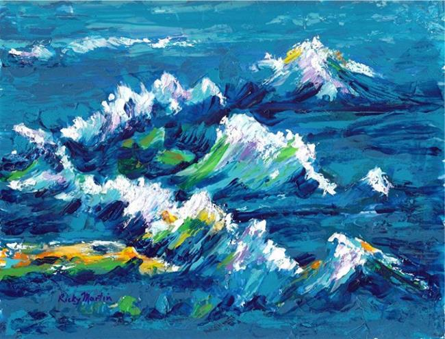 Art: Ocean Waves - sold by Artist Ulrike 'Ricky' Martin