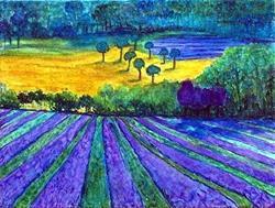 Art: Fragrant Lavender Fields by Artist Ulrike 'Ricky' Martin