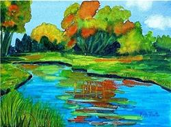 Art: Autumn Reflections by Artist Ulrike 'Ricky' Martin
